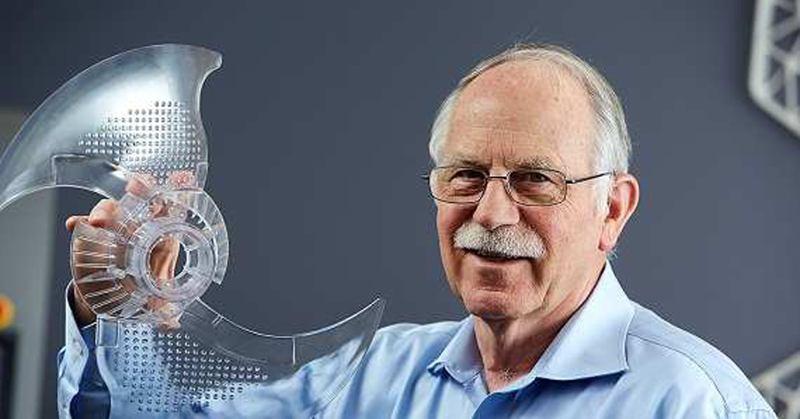 Основателят на 3D Systems - Chuck Hull.