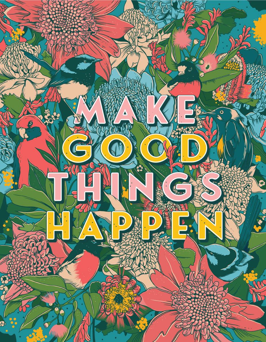 Make Good Things Happen Illustrated logo