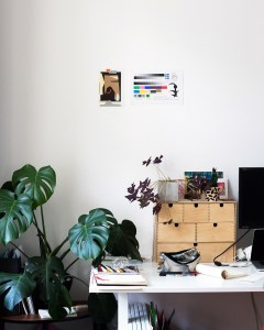 Artist home studio with monstera organised enough