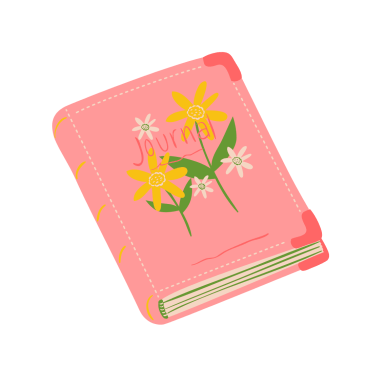 Pink Illustrated Journal