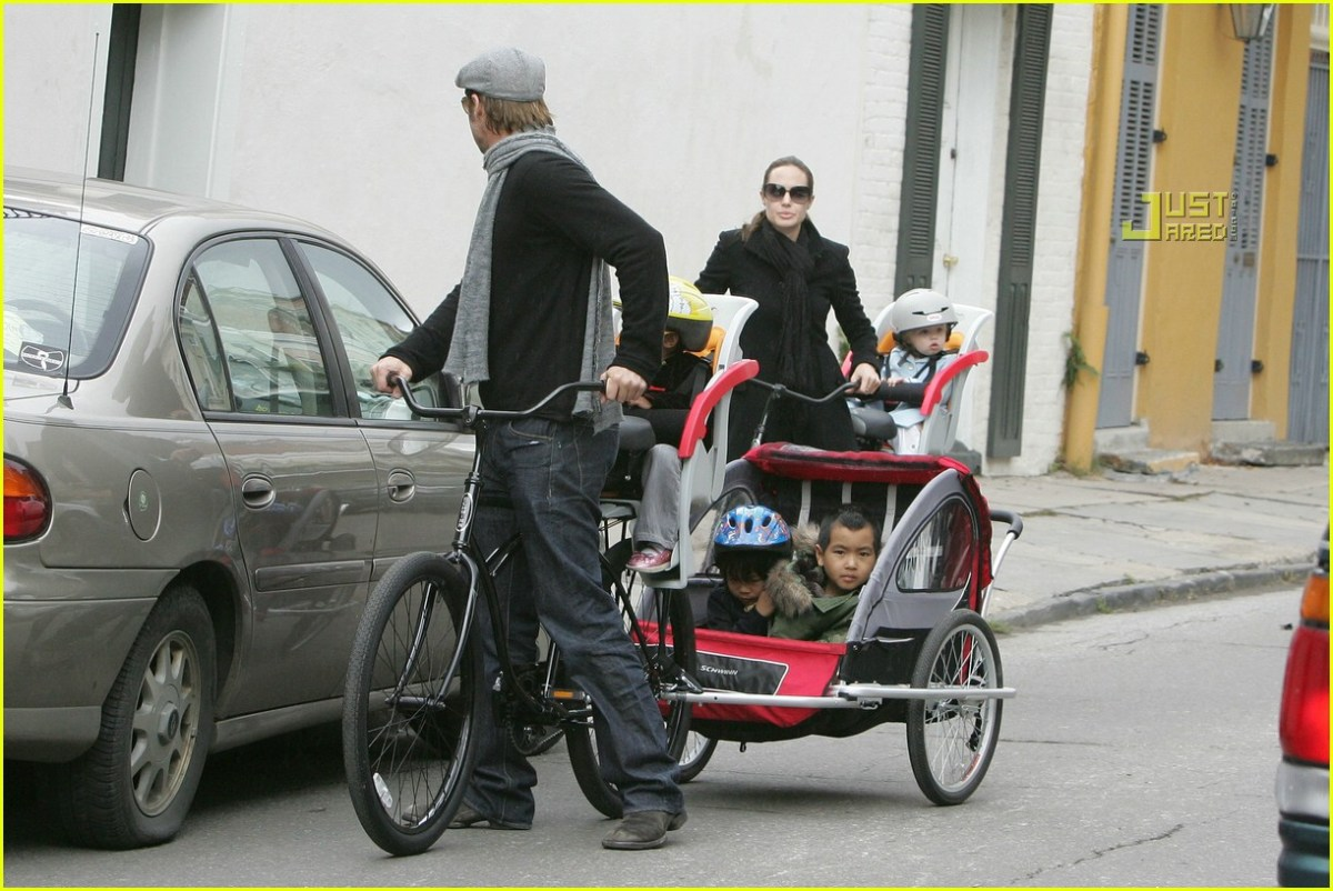 Celebrities biking with their kids!