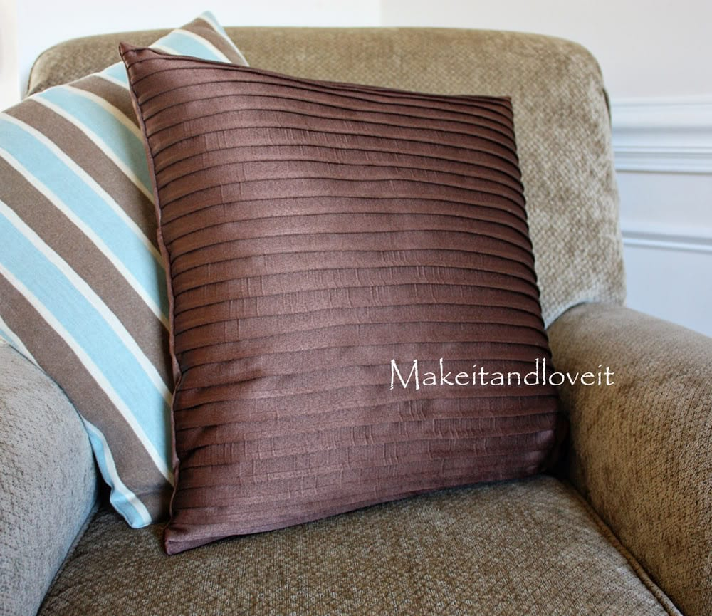 Decorate My Home Part 14  Pleated Pillow Covers  Make