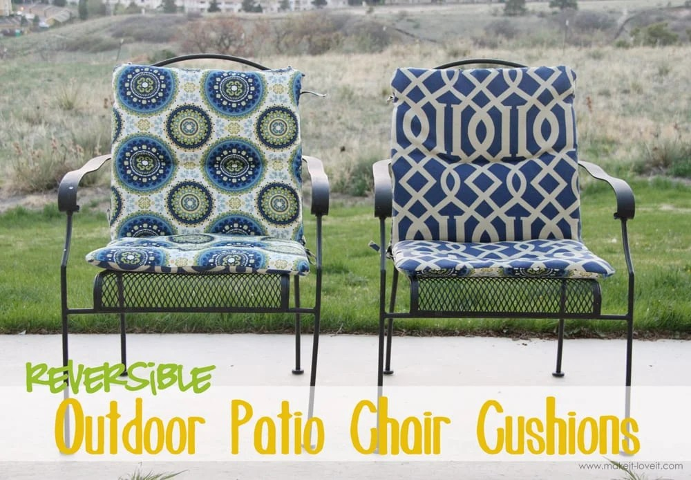 sewing patterns for patio chair cushions side chairs with arms living room make your own reversible it and love