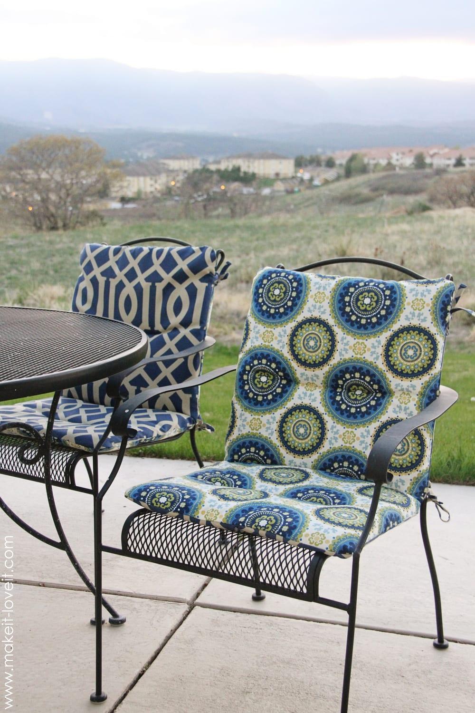 own reversible patio chair cushions