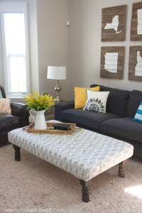 How to Make a DIY Tufted Fabric Ottoman / Coffee Tables ...