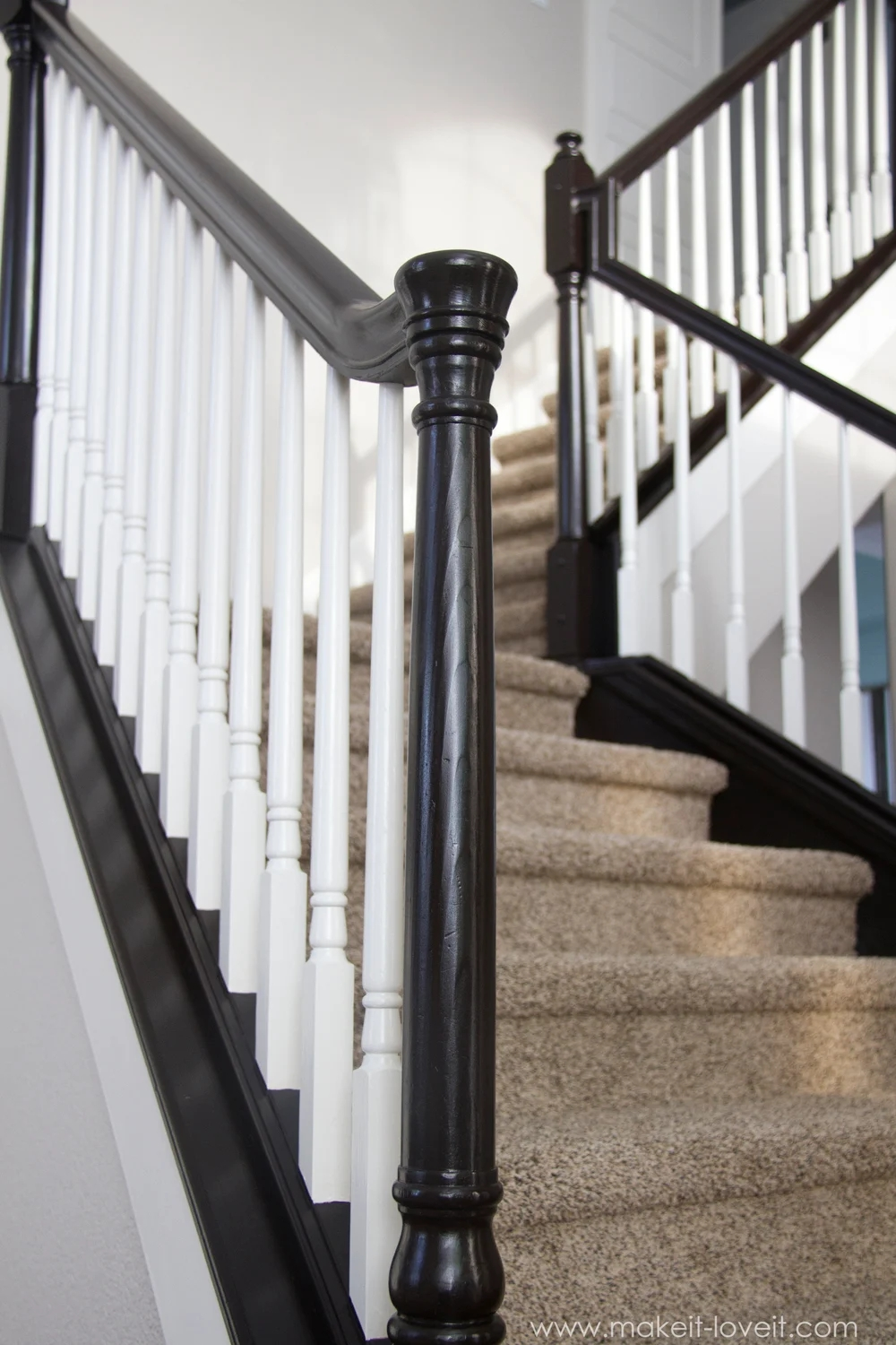 How To Paint Stain Wood Stair Railings Oak Banisters Spindles | New Banister And Spindles | Stair Treads | Iron Stair | Oak Banister | Iron Balusters | Floating Stairs