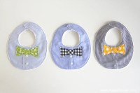 Bow Tie Drool Bibs...for BOYS! (from a Men's shirt)