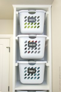 DIY Laundry Basket Organizer (...Built In) | Make It and ...
