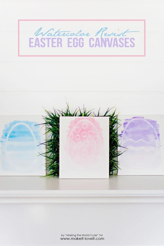 watercolor resist easter egg