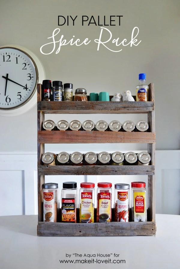 Diy Pallet Spice Rack Make And Love