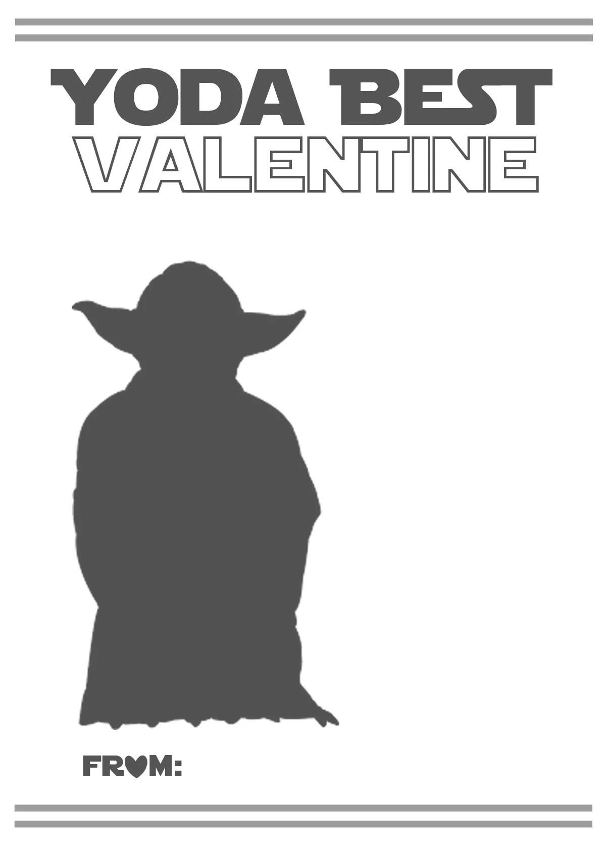 F R E E Valentine Card Printables Star Wars And