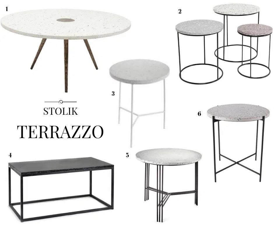 stolik terrazzo stół