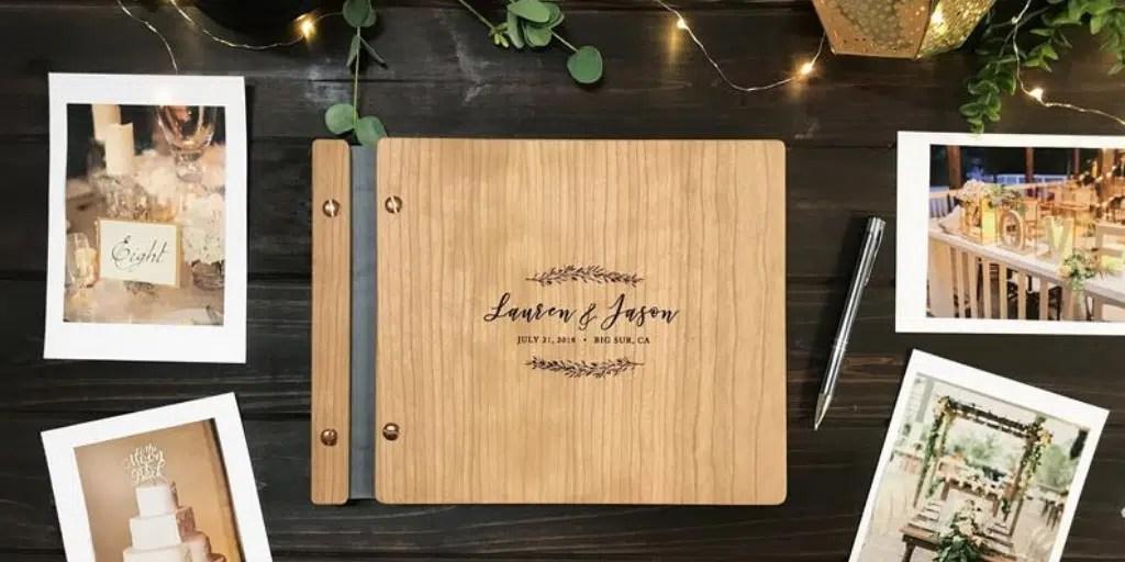 album na zdjęcia z drewnianą okładką