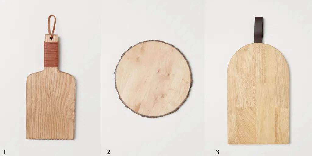 deski do serwowania z drewna