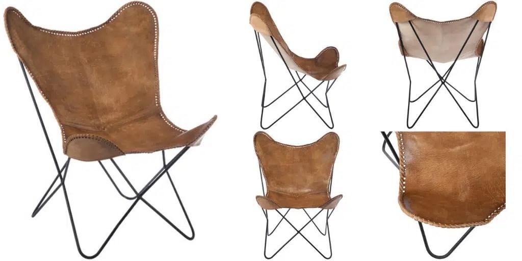 fotel butterfly jak jest zbudowany