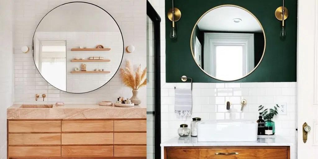 jak duże powinno być lustro łazienkowe
