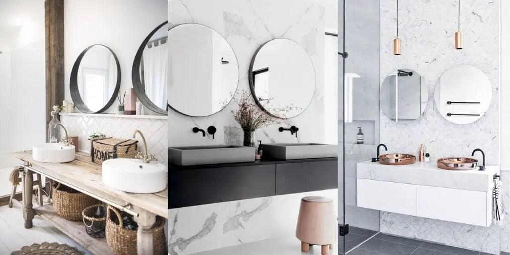 nowoczesna łazienka z dwiema umywalkami