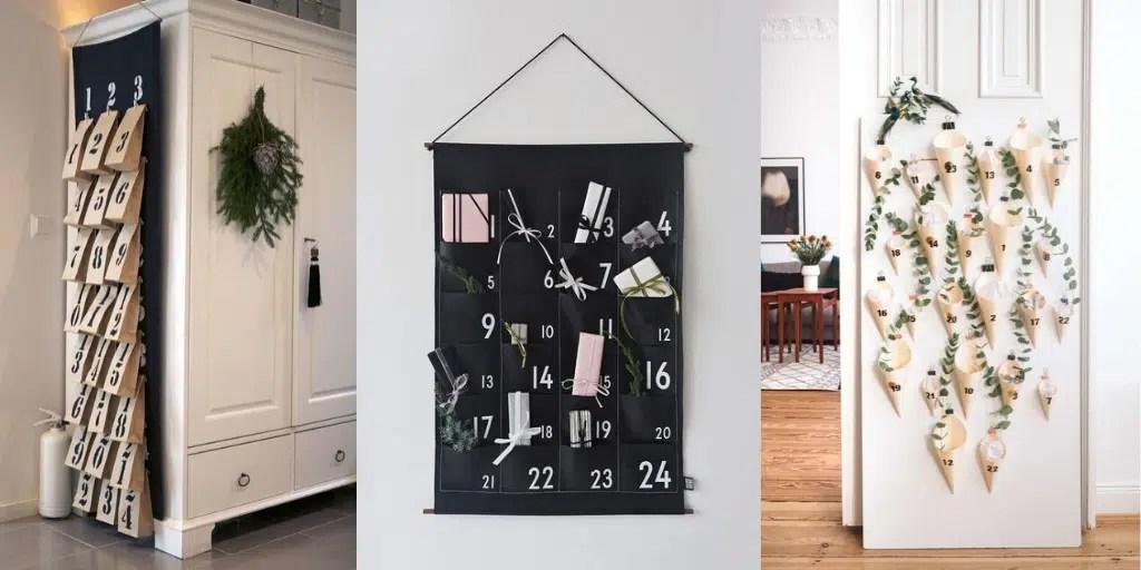 kalendarz adwentowy na tkaninie