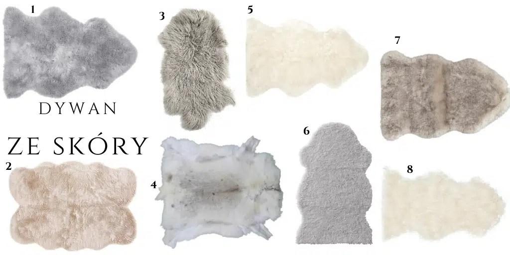 dywanik ze skóry futrzana dekoracja