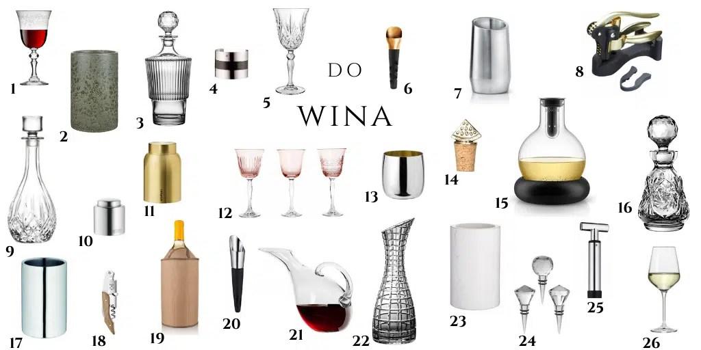akcesoria sommelierskie do podawania wina w czym podawać wino