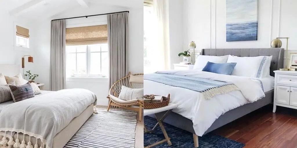 białe ściany w sypialni przytulna elegancka sypialnia w jasnych odcieniach