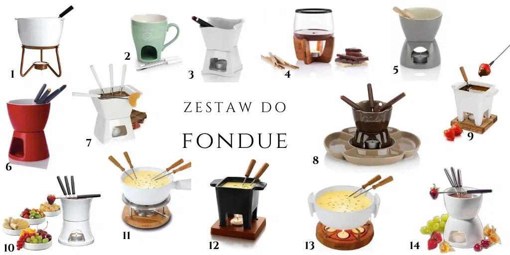 gdzie znaleźć zestaw do fondue ceramiczny biały ze szkła