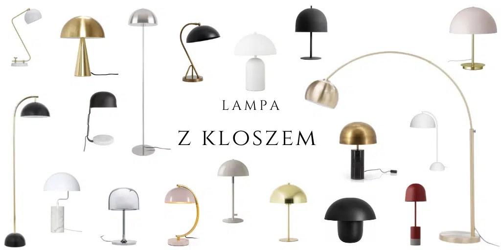 lampa z półokrągłym kloszem metalowa lampa stojąca