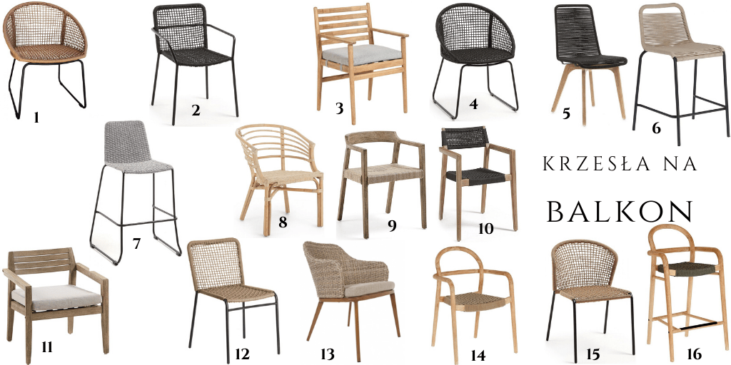 naturalne krzesła na balkon taras ogród gdzie kupię
