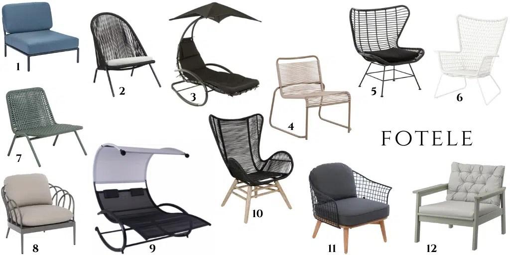 fotele ogrodowe zewnętrzne wysokie wygodne eleganckie nowoczesne