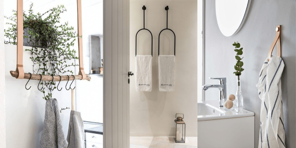 ręczniki łazienkowe wieszaki ze skóry skórzane nowoczesne