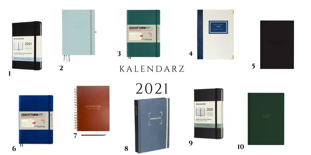 kalendarze na 2021 gdzie kupić dla mężczyzny ciemny granatowy niebieski czarny praktyczny