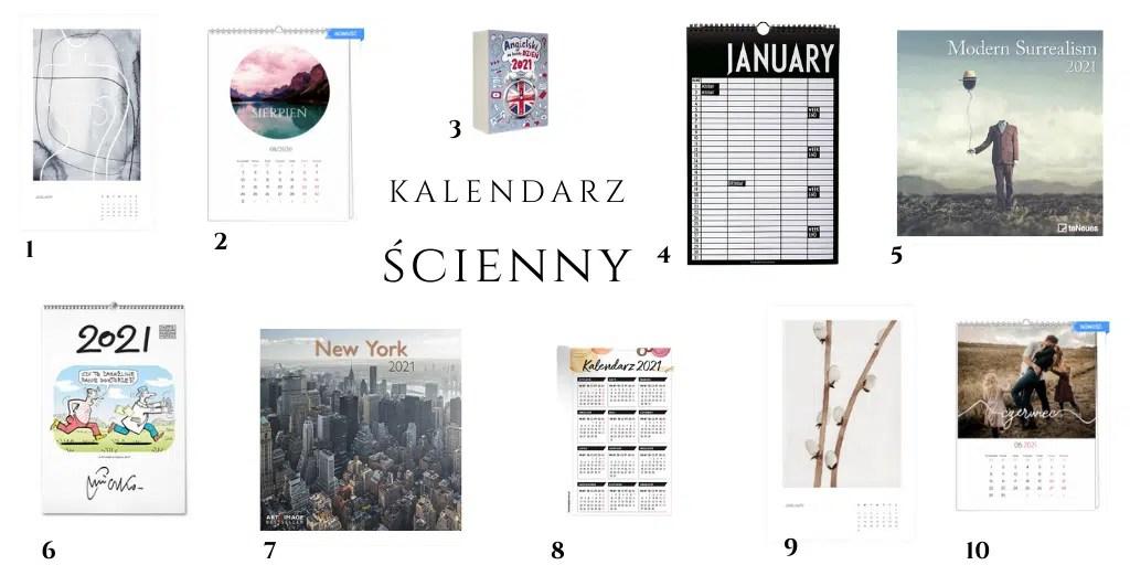 kalendarz ścienny 2021 kalendarze do powieszenia wiszące ładne z obrazami i grafikami