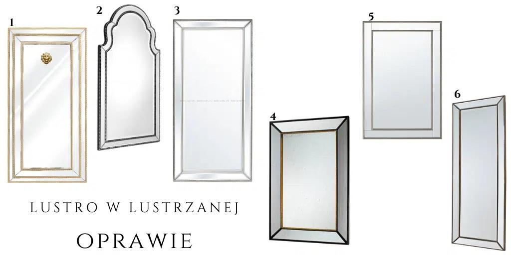 eleganckie lustro w ramie z luster z kuleczkami metalowymi gwoździkami gdzie kupić artehome