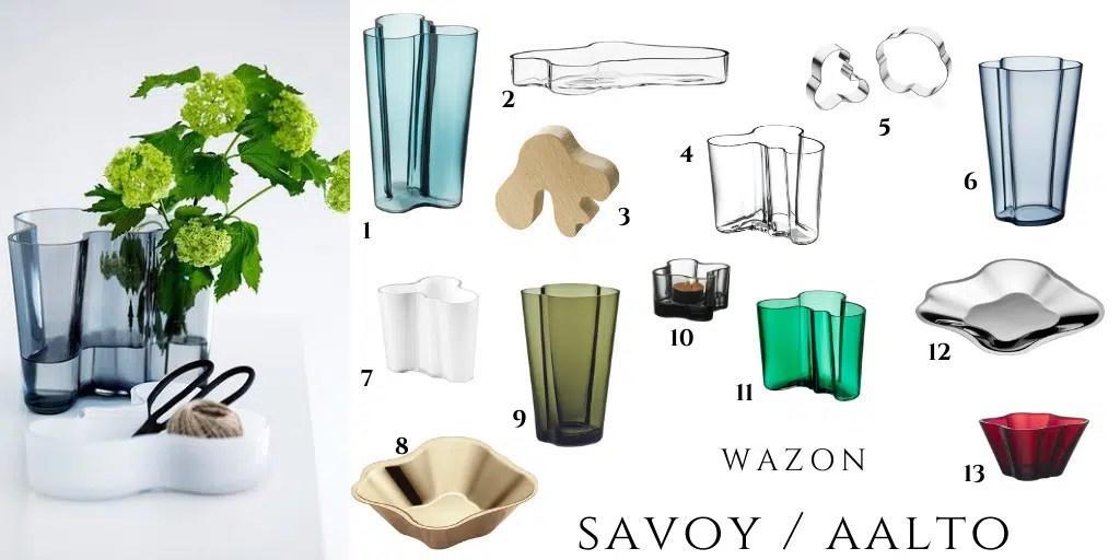 savoy vase aalto vase wazon fala kałuża nieregularny