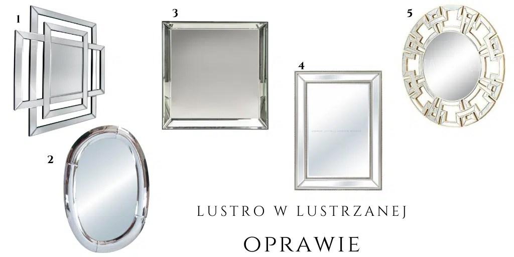 lustro w stylu glamour nowojorskim eleganckie srebrne złote artehome