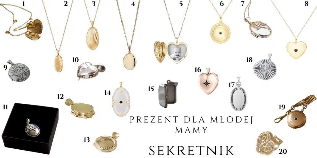 prezenty z okazji urodzenia dziecka dla kobiety sekretnik medalion zawieszka ze zdjęciem blossom jewelry w.kruk