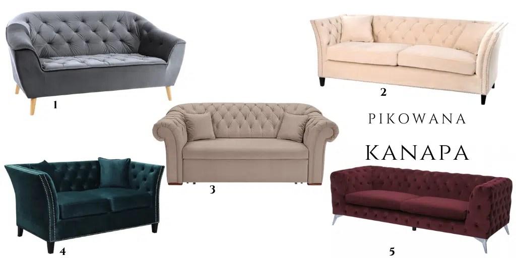 pikowana kanapa w stylu chesterfield sofa z weluru