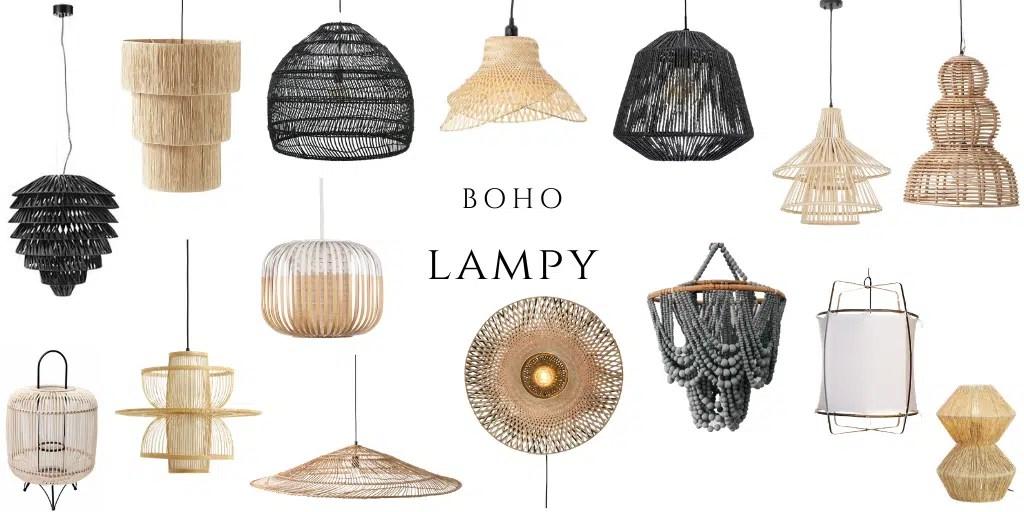 lampy boho gdzie kupić najlepsze z naturalnych materiałów lampa pleciona