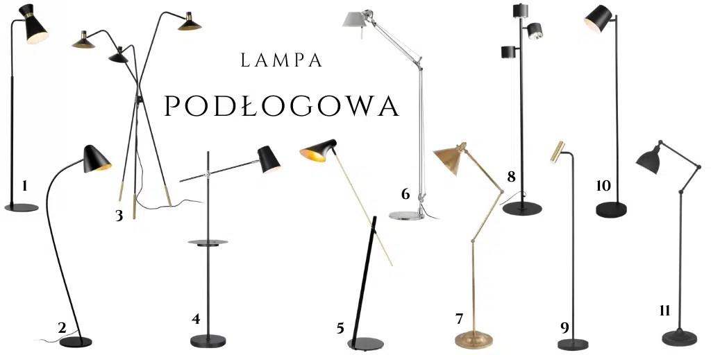 lampa obok kanapy prosta minimalistyczna wygodna regulowana czarna srebrna złota www.lampy.pl