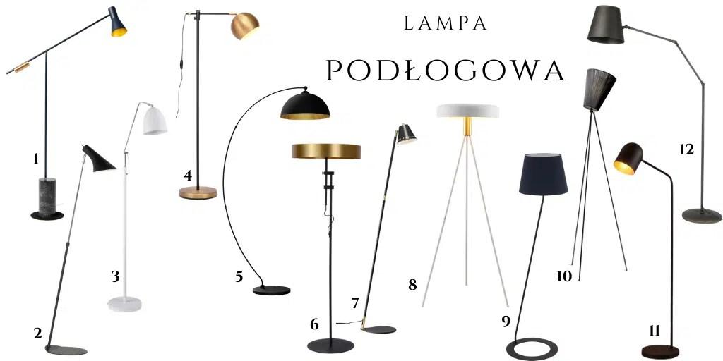 lampa do salonu stojąca wysoka lampy podłogowe z małym kloszem pionowe lampy.pl