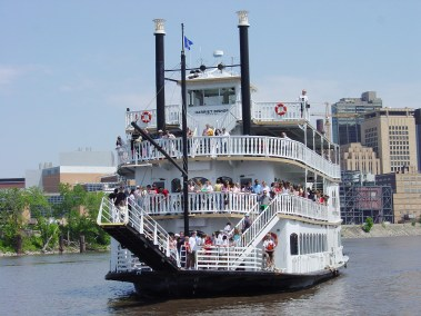 Paddle Boat on the River, Saint Paul.