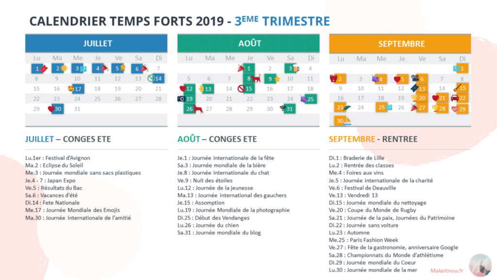 akeitnow.fr - Agenda Marketing temps forts 2019