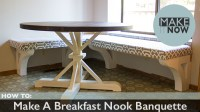 How To: Make A Breakfast Nook Banquette  MakeItNow
