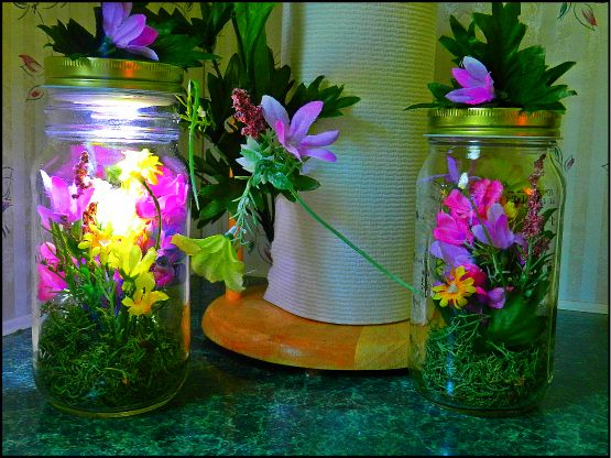 how to decorate and reuse glass jars