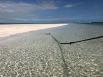 Key west sandbar anchor and chain