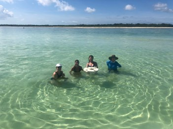 Key west sandbar pic with guests