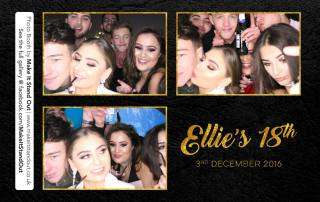 Ellie's 18th Birthday, Photo Booth