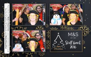 Photo booth M&S Staff party