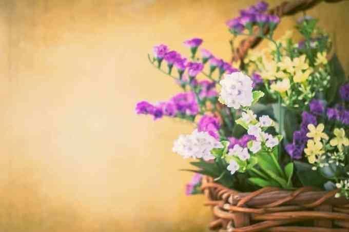Καλάθι με Λουλούδια Άνοιξη