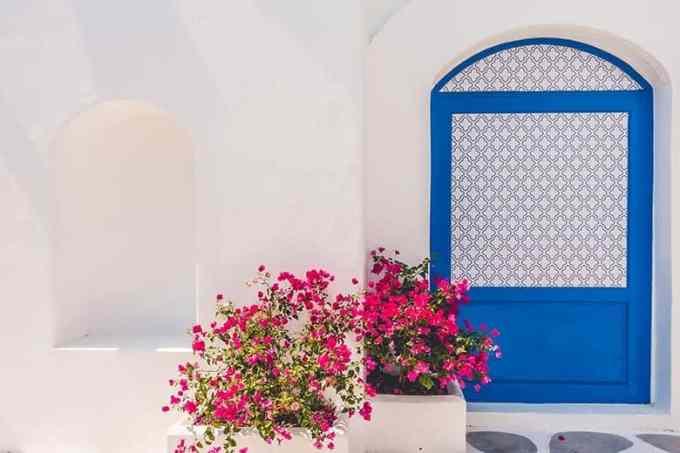 Γαλάζιο Λευκό Ελληνικό Τοπίο Ταπετσαρία Υπολογιστή